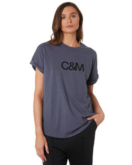 NAVY SLATE TONAL WOMENS CLOTHING C&M CAMILLA AND MARC TEES - VCMT7050NVY