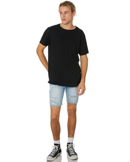 BONDI BLUE DESTROY MENS CLOTHING ROLLAS SHORTS - 150773132