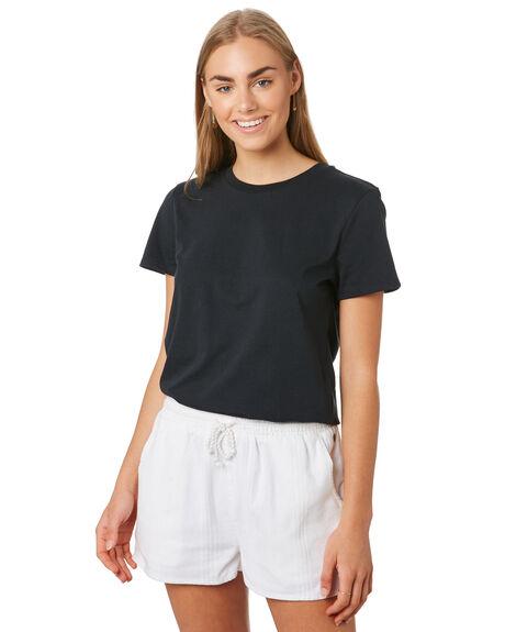 BLACK WOMENS CLOTHING VOLCOM TEES - B3541876BLK