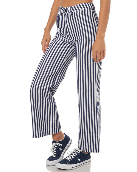 NAVY STRIPE WOMENS CLOTHING ROLLAS JEANS - 12494443
