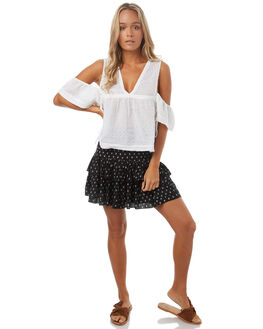 BLACK WOMENS CLOTHING SWELL SKIRTS - S8174471BLK