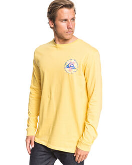 MISTED YELLOW MENS CLOTHING QUIKSILVER TEES - EQYZT05727-YHL0