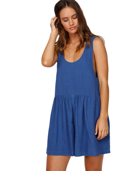 BRIGHT INDIGO WOMENS CLOTHING BILLABONG PLAYSUITS + OVERALLS - BB-6591528-9BI