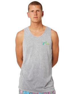 STONE GREY MENS CLOTHING RUSTY SINGLETS - TSM0468SOG