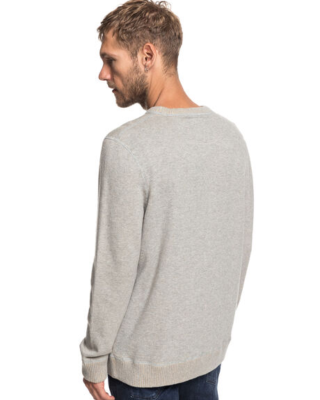 LIGHT GREY HEATHER MENS CLOTHING QUIKSILVER KNITS + CARDIGANS - EQYSW03237-SJSH
