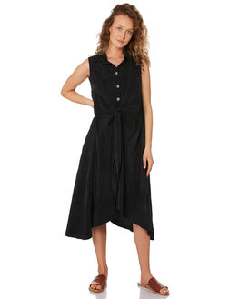 BLACK WOMENS CLOTHING SANCIA DRESSES - 845A_BLK