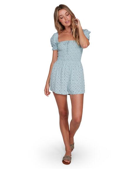 BLUE WOMENS CLOTHING BILLABONG PLAYSUITS + OVERALLS - BB-6504528-BLU