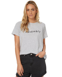 GREY MARLE WOMENS CLOTHING ASSEMBLY TEES - AW-S1791GRYMAR