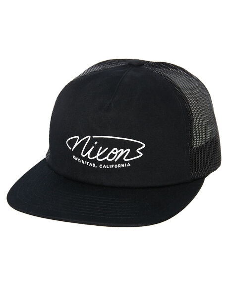 BLACK MENS ACCESSORIES NIXON HEADWEAR - C2985000