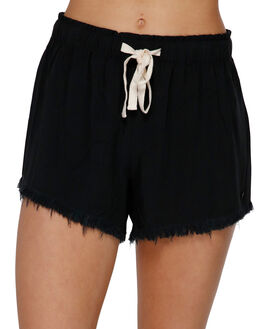 BLACK WOMENS CLOTHING BILLABONG SHORTS - BB-6591276-BLK