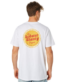 WHITE MENS CLOTHING THE LOBSTER SHANTY TEES - LBS-SOLA-WHT