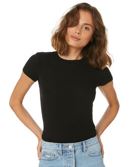 BLACK WOMENS CLOTHING SWELL TEES - S8188001BLACK