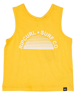 YELLOW KIDS GIRLS RIP CURL TOPS - FTEBW10010