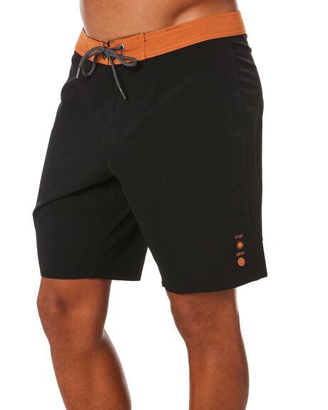 BLACK MENS CLOTHING STAY BOARDSHORTS - SBO-20307BLK
