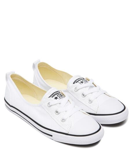 WHITE WOMENS FOOTWEAR CONVERSE SNEAKERS - 547167WHI