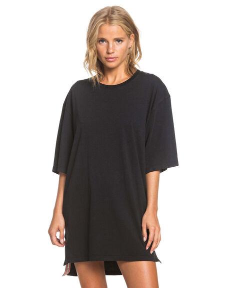 ANTHRACITE WOMENS CLOTHING ROXY DRESSES - ERJKD03321-KVJ0