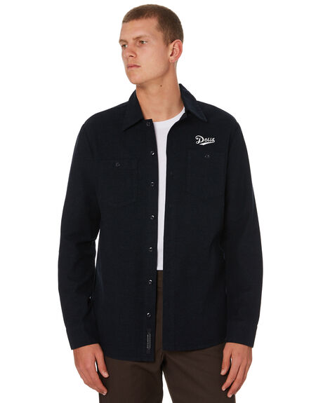 NAVY MENS CLOTHING DEUS EX MACHINA SHIRTS - DMW95022NVY