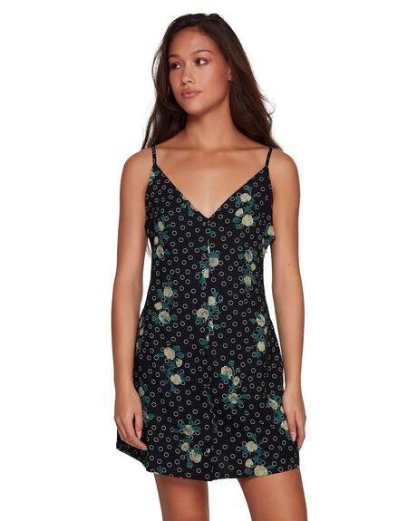 BLACK WOMENS CLOTHING RVCA DRESSES - RV-R407751-BLK