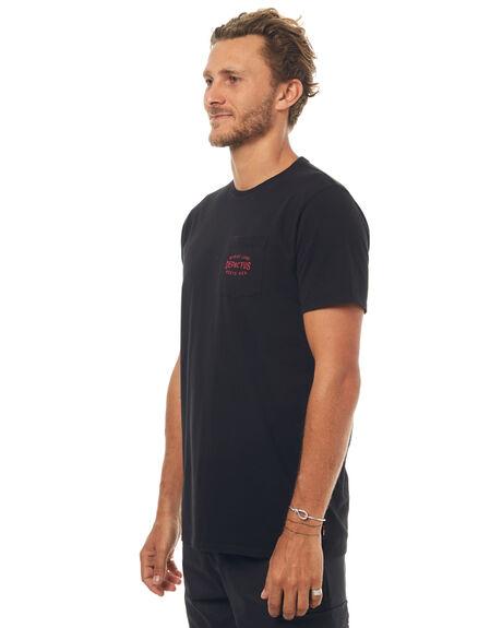 BLACK MENS CLOTHING DEPACTUS TEES - D5171007BLACK