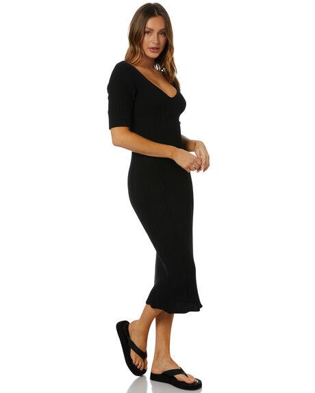 BLACK WOMENS CLOTHING RUE STIIC DRESSES - SA-21-K-32-B-CBLK