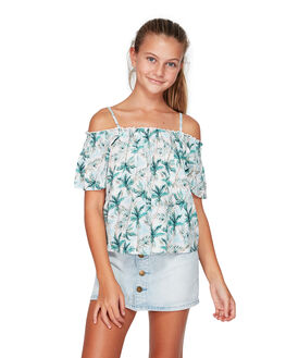 WHITE KIDS GIRLS BILLABONG TOPS - BB-5592091-WHT