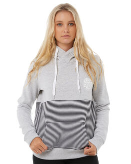 LIGHT GREY HEATHER WOMENS CLOTHING RIP CURL JUMPERS - GFEGH1GREY