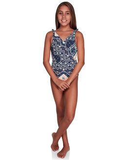 MED BLUE NEWPORT KIDS GIRLS ROXY SWIMWEAR - ERGX103051-BTE7