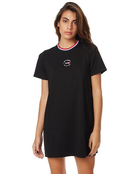 BLACK WOMENS CLOTHING STUSSY DRESSES - ST175512BLK