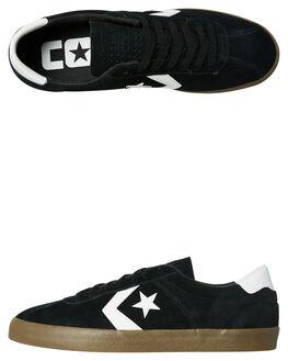 BLACK WHITE GUM MENS FOOTWEAR CONVERSE SNEAKERS - 160543BKWHG