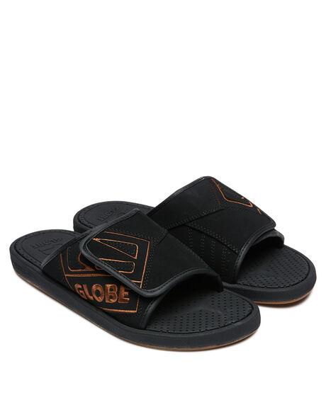 BLACK TAN MENS FOOTWEAR GLOBE THONGS - GBFOCBLS10176