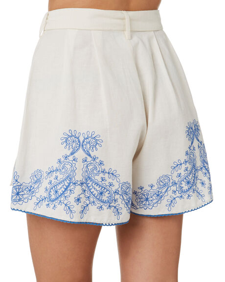 WHITE WOMENS CLOTHING TIGERLILY SHORTS - T305379WHT