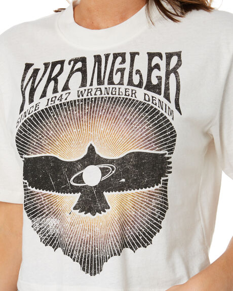 VINTAGE WHITE WOMENS CLOTHING WRANGLER TEES - W-952043-066VWHT