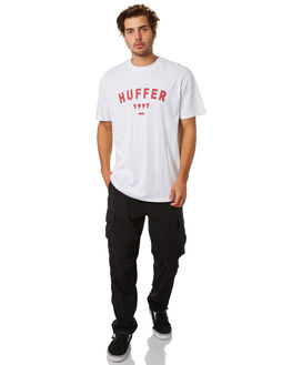 WHITE MENS CLOTHING HUFFER TEES - MTE01S4037WHT