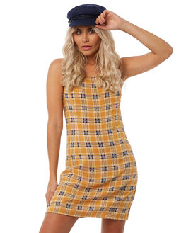 YELLOW WOMENS CLOTHING INSIGHT DRESSES - 5000002725YEL