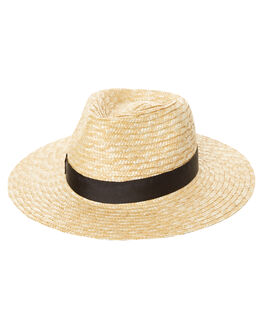 NATURAL WOMENS ACCESSORIES LACK OF COLOR HEADWEAR - STRAWFED1NAT