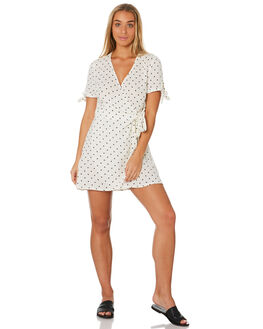 WHITE WOMENS CLOTHING RHYTHM DRESSES - JUL19W-DR10WHT