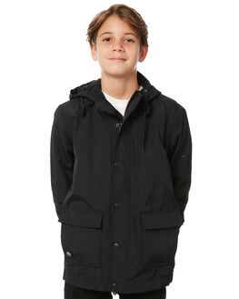 BLACK KIDS BOYS GLOBE JACKETS - GB41837001BLK