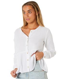 WHITE WOMENS CLOTHING RHYTHM FASHION TOPS - JUL19W-WT05WHI