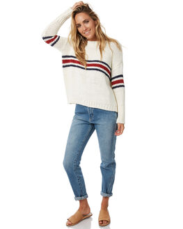 WHITE NAVY RED WOMENS CLOTHING RUE STIIC KNITS + CARDIGANS - S118-108MULTI