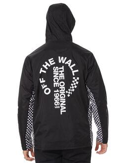 BLACK MENS CLOTHING VANS JACKETS - VNA3W29BLKBLK