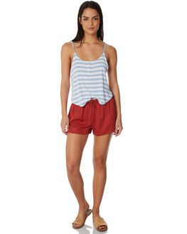 IRIS BLUE STRIPE WOMENS CLOTHING ALL ABOUT EVE FASHION TOPS - 6423057STR