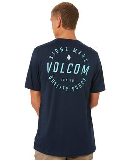 NAVY MENS CLOTHING VOLCOM TEES - A504187GNVY
