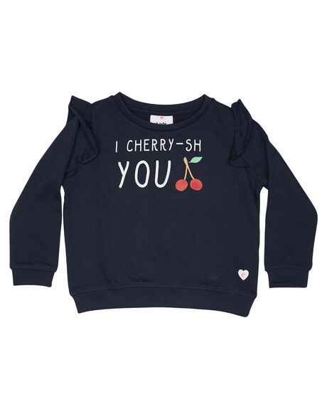 NAVY KIDS GIRLS EVES SISTER JUMPERS + JACKETS - 8010071NAVY