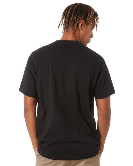 BLACK MENS CLOTHING POLER TEES - 213APM2007-BLK