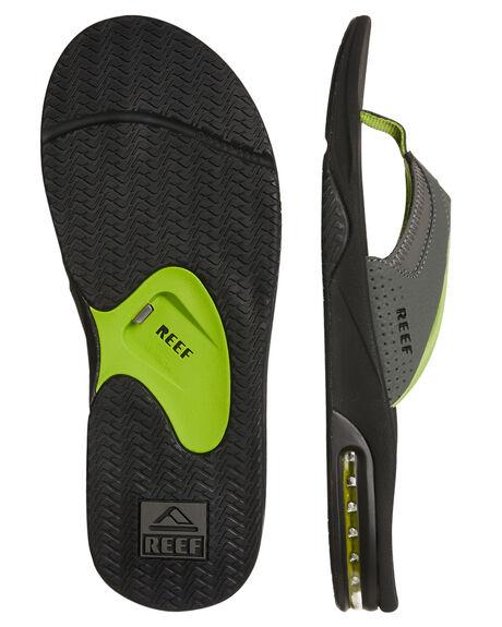 BLACK GREEN MENS FOOTWEAR REEF THONGS - 2026BKG