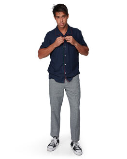 BLACK MENS CLOTHING RVCA PANTS - RV-R307050-BLK