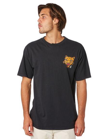 BLACK MENS CLOTHING VOLCOM TEES - A4311903BLK