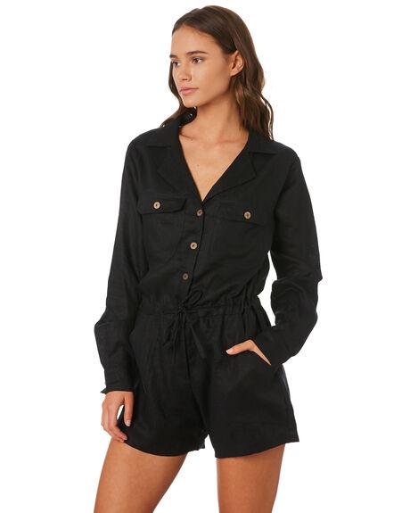 BLACK WOMENS CLOTHING LILYA PLAYSUITS + OVERALLS - LJS01BLK