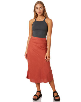 ROCKER RED WOMENS CLOTHING THRILLS SKIRTS - WTS9-308HRED