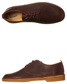 NUT BROWN MENS FOOTWEAR CLARKS ORIGINALS FASHION SHOES - SS26118-567M